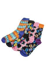 Coffret Cadeau Happy socks Noir pack XFST09-vue-porte