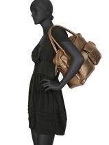 Sac Shopping Vintage Cuir Paul marius Beige vintage DANDY-vue-porte