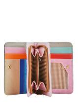 Porte-monnaie Porte-cartes Miniprix Noir multico COK713-vue-porte
