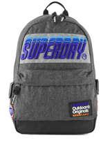 Sac à Dos 1 Compartiment Superdry Gris backpack men M91024MT