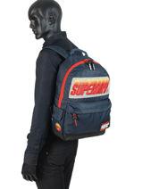 Sac à Dos 1 Compartiment Superdry Noir backpack men M91024MT-vue-porte