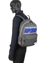 Rugzak 1 Compartiment Superdry Grijs backpack men M91024MT-vue-porte
