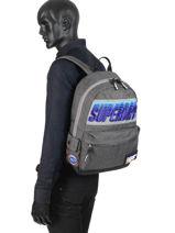 Sac à Dos 1 Compartiment Superdry Gris backpack men M91024MT-vue-porte