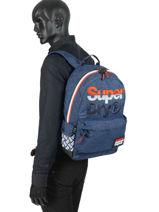 Sac à Dos 1 Compartiment Superdry Bleu backpack men M91016MT-vue-porte