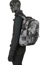 Sac à Dos 2 Compartiments Superdry Gris backpack men M91007MT-vue-porte