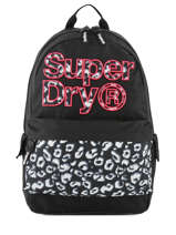 Sac à Dos 1 Compartiment Superdry Noir backpack woomen G91110MT