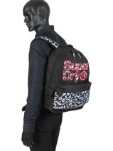 Sac à Dos 1 Compartiment Superdry Noir backpack woomen G91110MT-vue-porte