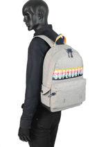 Sac à Dos 1 Compartiment Superdry Gris backpack men G91013JR-vue-porte