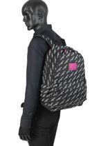 Sac à Dos 1 Compartiment Superdry Noir backpack woomen G91007JR-vue-porte