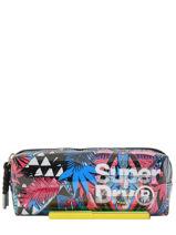 Trousse 1 Compartiment Superdry Multicolore accessories woomen G98003GR-vue-porte