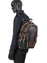 Sac à Dos Diamond  2 Compartiments Superdry Noir backpack men M91011JT-vue-porte