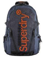 Sac à Dos Honey Comb 2 Compartiments Superdry Bleu backpack men M91015MT