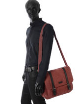 Business Tas Etrier Rood canvas ECAN02-vue-porte