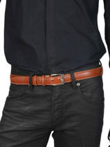 Verstelbare Herenriem Classic Petit prix cuir Oranje classic 82-30-vue-porte