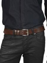 Verstelbare Herenriem Extra Petit prix cuir Bruin extra 224-40-vue-porte