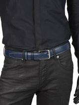 Verstelbare Herenriem Extra Petit prix cuir Blauw extra 290-35-vue-porte