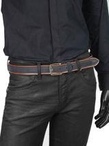 Verstelbare Herenriem Jean Petit prix cuir Blauw jean 3709-35-vue-porte