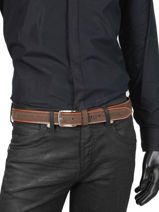 Verstelbare Herenriem Jean Petit prix cuir Bruin jean 3709-35-vue-porte