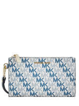 Portefeuille Jet Set Logo Michael kors Blanc money pieces S9GFDW4B