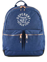 Sac à Dos 2 Compartiments Superdry Bleu backpack woomen G91109MT