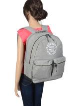 Sac à Dos 2 Compartiments Superdry Bleu backpack woomen G91109MT-vue-porte