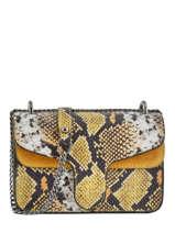 Cross Body Tas Python Milano Geel python PI19031