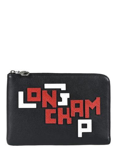 Longchamp Le pliage cuir lgp Clutch Zwart