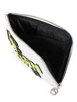 Longchamp Le pliage cuir lgp Clutch Wit-vue-porte
