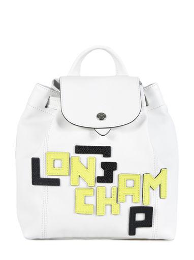 Longchamp Le pliage cuir lgp Sac à dos Noir