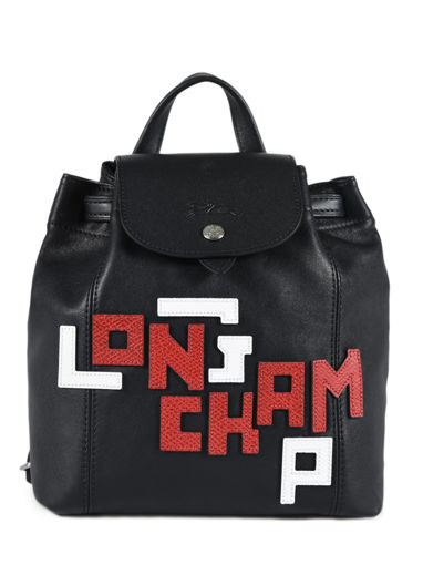 Longchamp Le pliage cuir lgp Rugzak Zwart