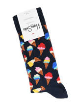 Chaussettes Ice Cream Happy socks Noir ice cream ICC01