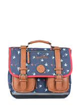 Cartable 2 Compartiments Cameleon Bleu vintage print girl VIG-CA35