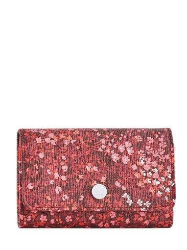 Longchamp Le pliage fleurs Porte monnaie Rouge