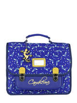 Cartable Enfant 2 Compartiments Cameleon Bleu retro RET-CA35