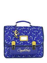 Cartable Enfant 2 Compartiments Cameleon Bleu retro RET-CA35