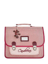 Cartable Enfant 2 Compartiments Cameleon Rose retro vinyl REV-CA35