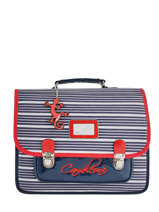 Cartable 2 Compartiments Cameleon Bleu retro vinyl REV-CA35