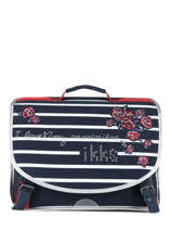 Cartable 2 Compartiments Ikks Bleu i love my mariniere 38821