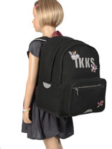 Sac à Dos 2 Compartiments Ikks Noir black tea 63814-vue-porte