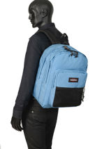 Sac à Dos 2 Compartiments Eastpak Bleu pbg authentic PBGK060-vue-porte