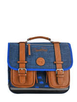 Cartable 2 Compartiments Cameleon Bleu vintage print boy VIB-CA35
