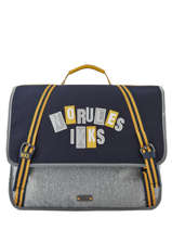 Cartable 2 Compartiments Ikks Gris kings 41838