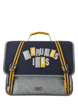 Cartable 2 Compartiments Ikks Gris kings 38838