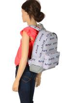 Rugzak 1 Compartiment Roxy Grijs back to school RJBP3950-vue-porte