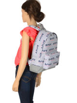 Sac à Dos 1 Compartiment Roxy Gris back to school RJBP3950-vue-porte