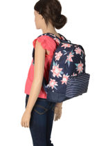 Sac à Dos 1 Compartiment Roxy Multicolore back to school RJBP3950-vue-porte