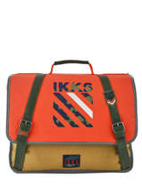 Cartable 2 Compartiments Ikks Orange army 38526