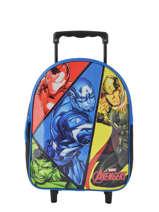 Sac à Dos à Roulettes 1 Compartiment Avengers Multicolore quadri AVNI04