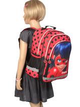Sac à Dos 2 Compartiments Miraculous Rouge tales of ladybug 599840LB-vue-porte