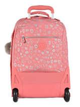 Sac à Dos à Roulettes 2 Compartiments + Pc 15'' Kipling Rose back to school I4468